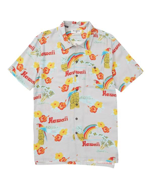 0 Vacay Print Short Sleeve Shirt Beige M505TBVP Billabong