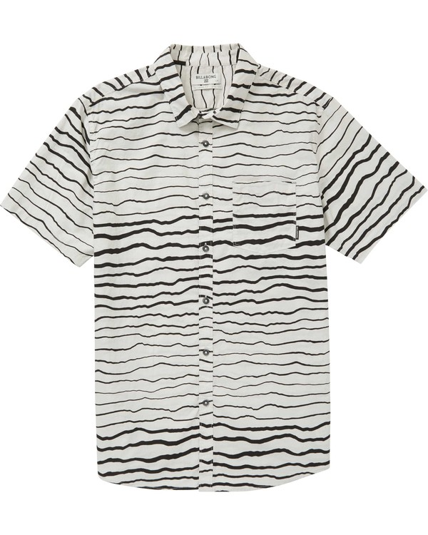 0 Sundays Lines Short Sleeve Shirt Grey M506PBSL Billabong