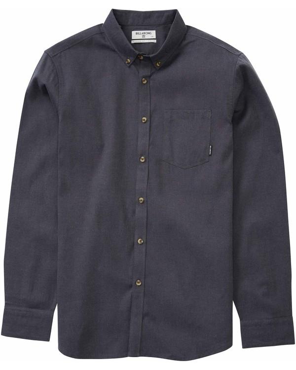 0 All Day Oxford Long Sleeve Shirt Black M507LADO Billabong