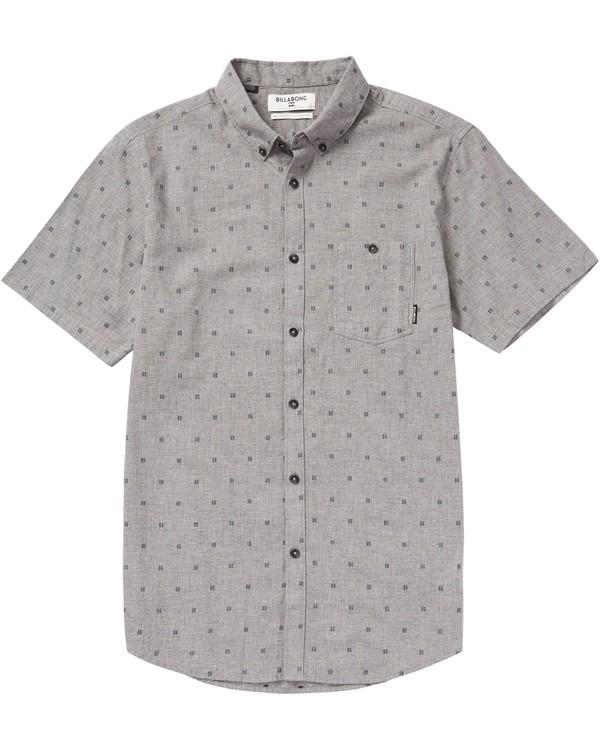 0 All Day Jacquard Short Sleeve Shirt Grey M507PBSJ Billabong