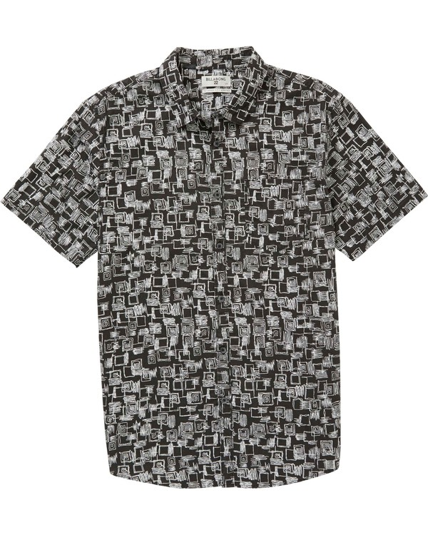 0 Sundays Mini Short Sleeve Shirt Black M508PBSM Billabong