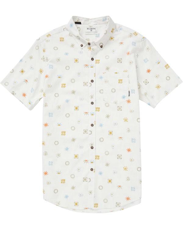 0 Sundays Mini Short Sleeve Shirt Grey M508QBSM Billabong