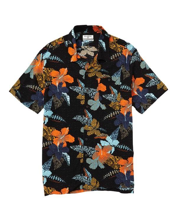 0 Sundays Vacay Printed Short Sleeve Shirt Black M508SBSV Billabong