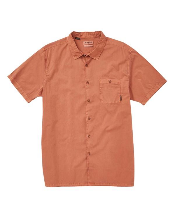 0 Wave Washed Short Sleeve Shirt Green M508TBWW Billabong