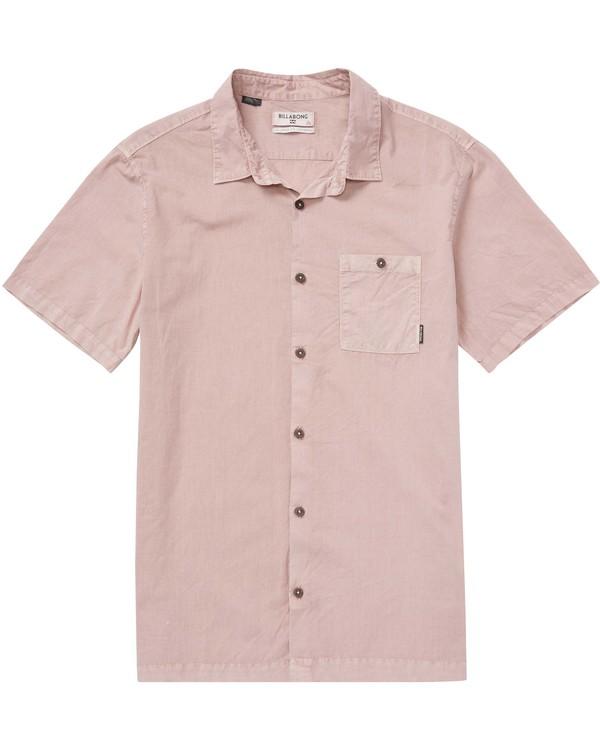 0 Wave Washed Short Sleeve Shirt Pink M509QBWW Billabong