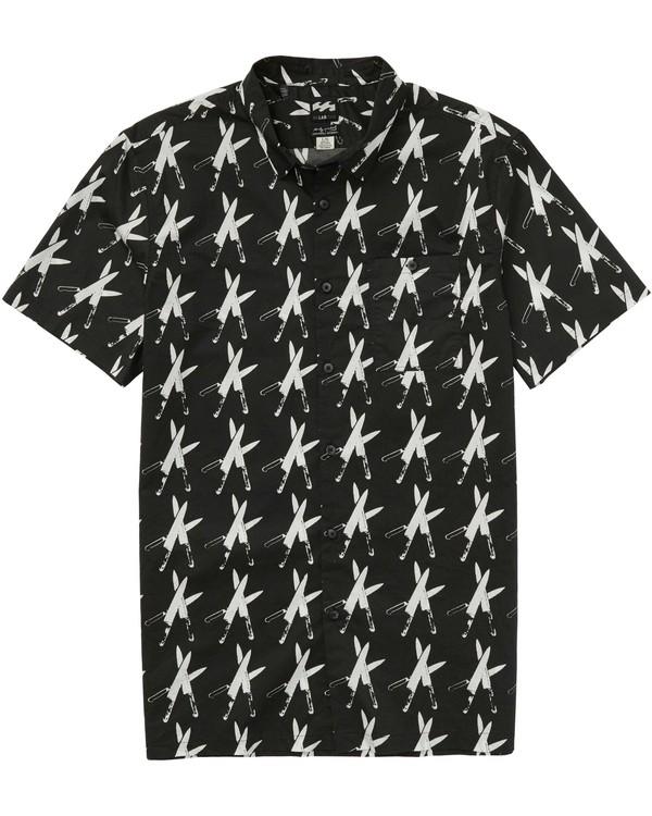 0 Collided Short Sleeve Shirt Black M511PBCO Billabong