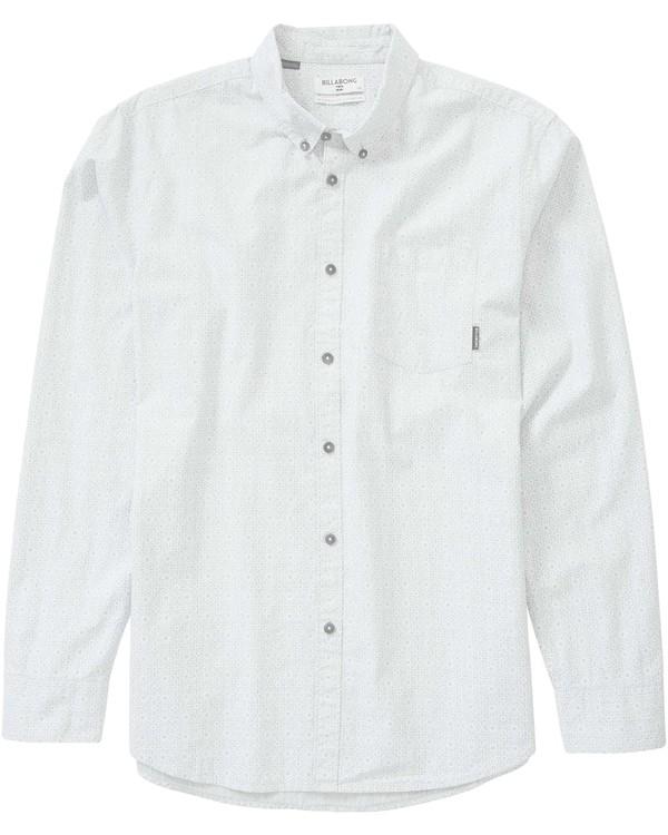 0 Sundays Mini Long Sleeve Shirt Grey M518LSUL Billabong