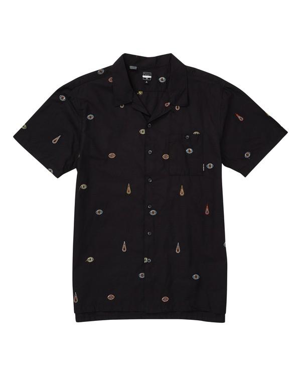 0 Bone Thrower Optic Short Sleeve Shirt Black M519TBBO Billabong