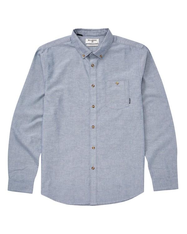 0 All Day Long Sleeve Shirt Blue M520TBAL Billabong