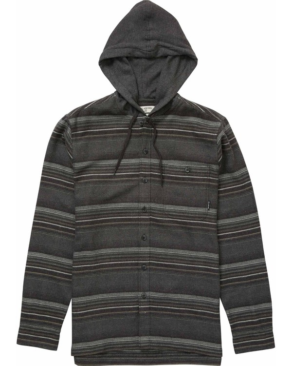 0 Baja Hooded Flannel Grey M524NBBA Billabong