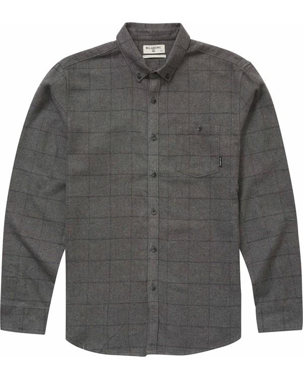 0 Proper Flannel Shirt Grey M525NBPR Billabong