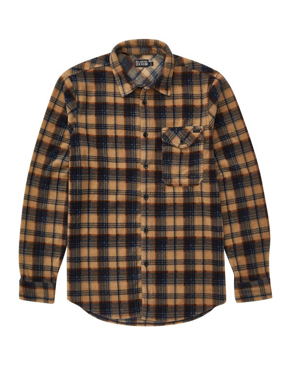 0 Furnace Flannel Polar Fleece Flannel Shirt Grey M527QBFF Billabong