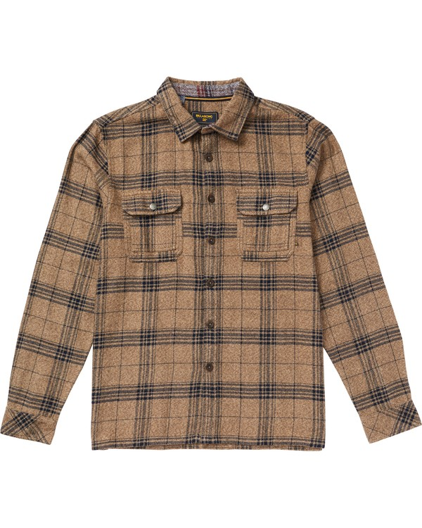 0 Shaping Bay Flannel Shirt Grey M530SBSH Billabong
