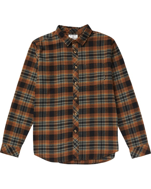 0 Coastline Plaid Flannel Shirt Green M532SBCO Billabong
