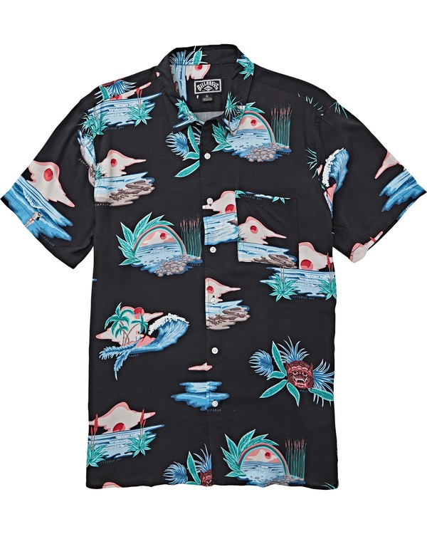 0 Cheers Parko Shirt Black M550SBCP Billabong