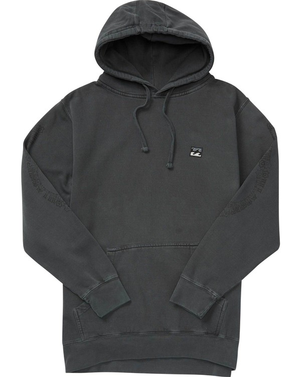 0 Wave Washed Rio Pullover Hoodie Black M640NBRI Billabong