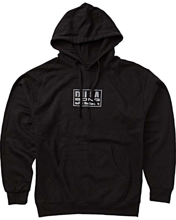 0 Ripped Pullover Hoodie Black M640SRIB Billabong