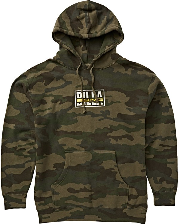 0 Ripped Pullover Hoodie Green M640SRIB Billabong