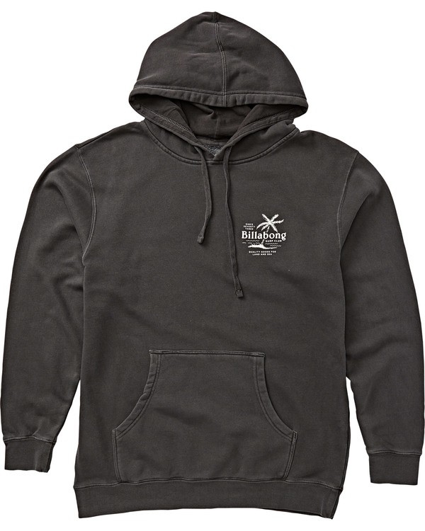0 Surf Club Pullover Hoodie Black M640SSCB Billabong