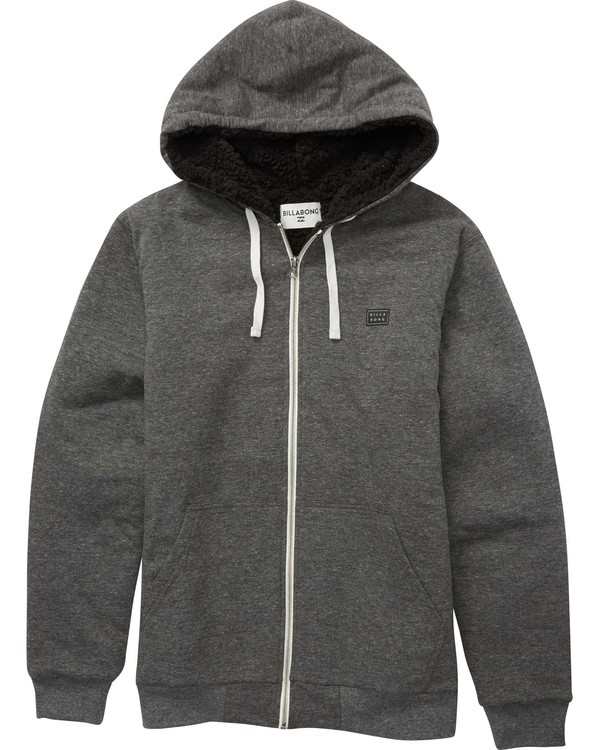 0 All Day Sherpa Zip Hoodie Black M660QBAS Billabong