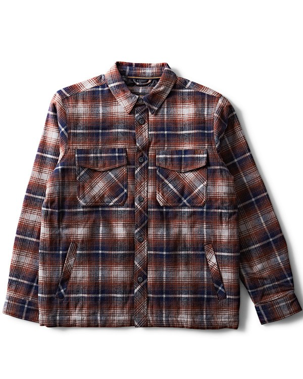 0 Barlow Plaid Jacket Grey M704QBBP Billabong