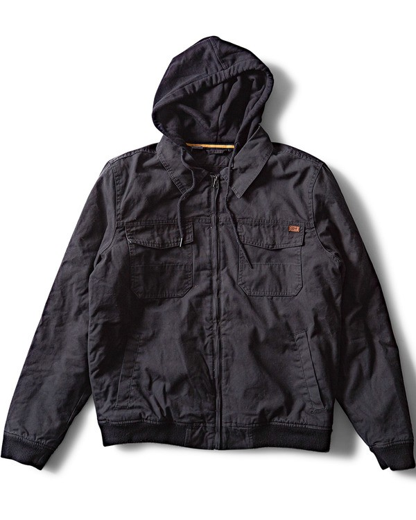 0 Barlow Twill Jacket Black M706QBBT Billabong