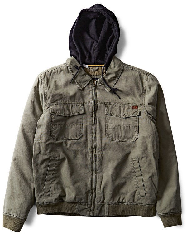 0 Barlow Twill Jacket Camo M706QBBT Billabong