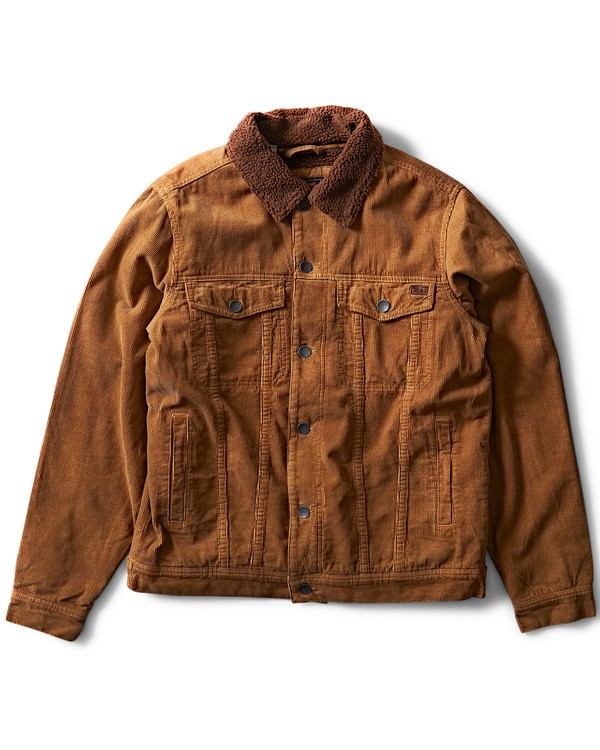 0 Barlow Trucker Jacket Brown M707QBTR Billabong