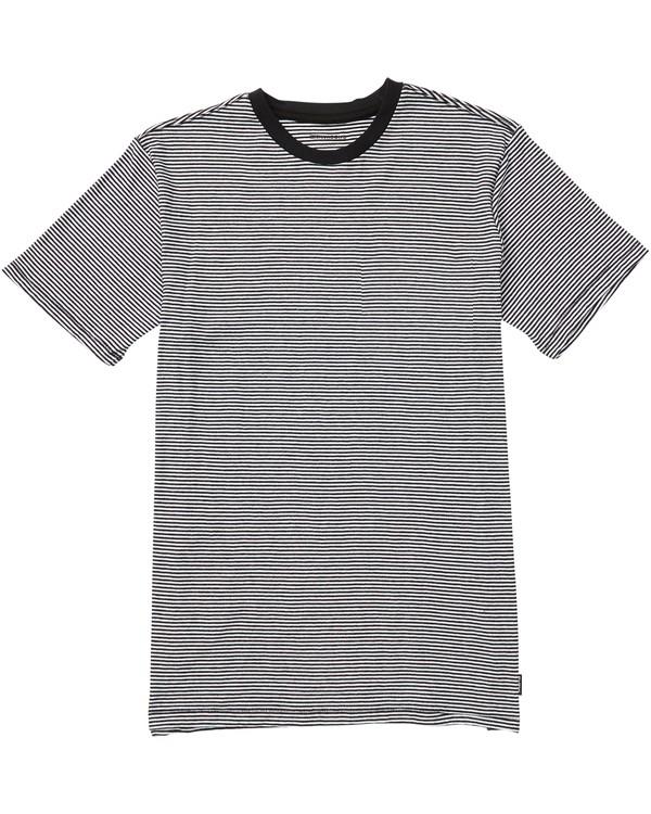 0 Delta Crew Striped T-Shirt Black M903SBST Billabong