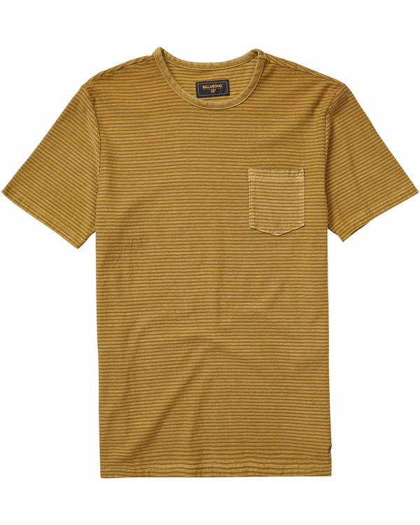 0 Stringer Short Sleeve Crew Tee Yellow M904NBST Billabong