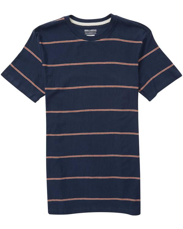 0 Die Cut Stripe Short Sleeve Crew Tee Blue M905NBDI Billabong