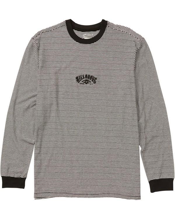0 Delta Striped Long Sleeve T-Shirt Black M905SBST Billabong