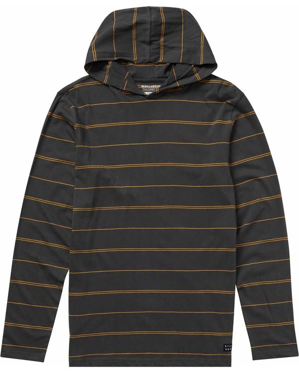 0 Die Cut Stripe Pullover Hoodie Black M906NBDP Billabong