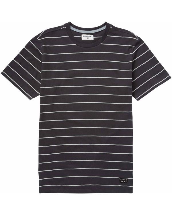 0 Die Cut Stripe Short Sleeve Crew Tee Black M975LDIE Billabong