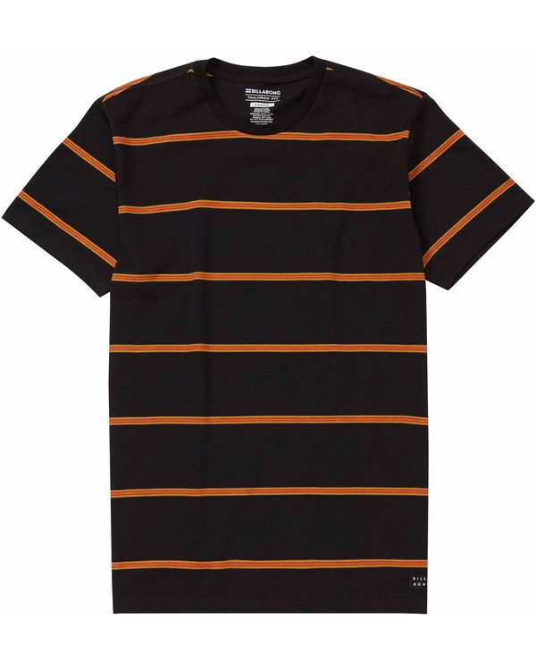 0 Die Cut Stripe Short Sleeve Crew Tee Black M975LDIE Billabong