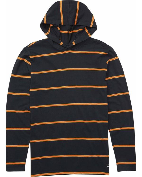 0 Die Cut Stripe Pullover Hoody Black M976LDIL Billabong