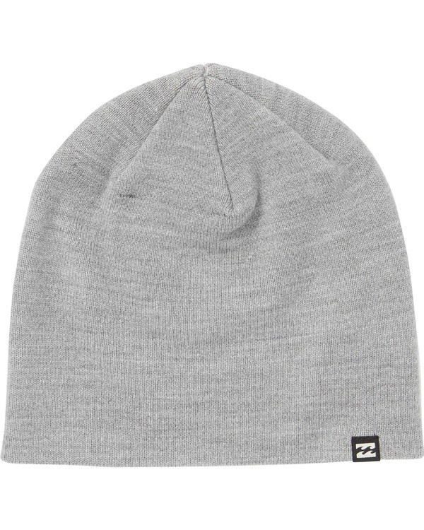 0 All Day Solid Beanie Grey MABNQBAD Billabong