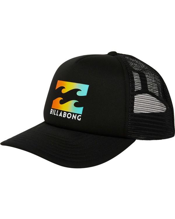 0 Podium Trucker Hat Black MAHTGPOD Billabong