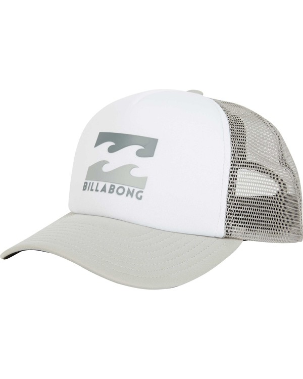 0 Podium Trucker Hat Grey MAHTGPOD Billabong