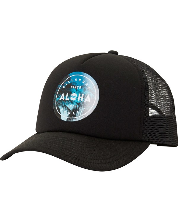 0 Aloha Seal Hi Trucker Hat Black MAHTMAHI Billabong