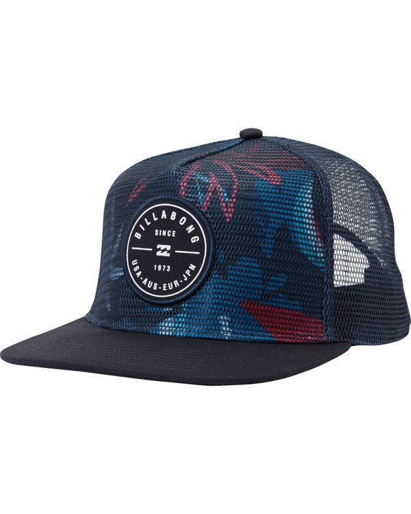 0 Rotor Trucker Hat Blue MAHTMRTR Billabong