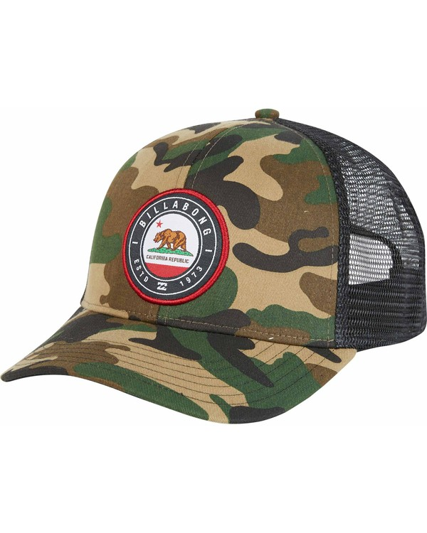 0 Native Rotor Camo Trucker Hat  MAHWNBCN Billabong