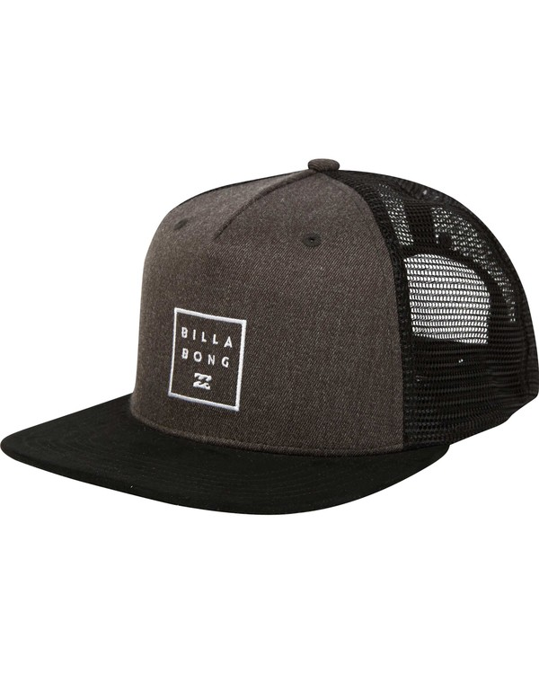 0 Stacked Trucker Hat Black MAHWNBST Billabong