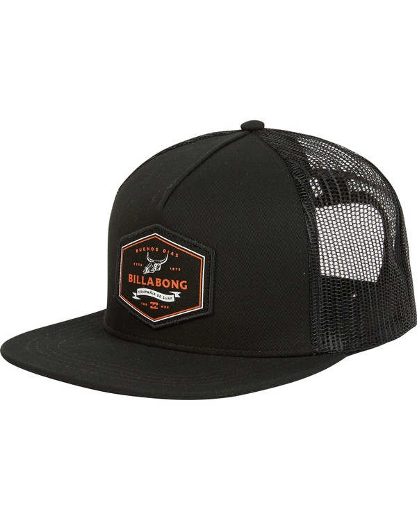 0 Flatwall Trucker Hat Black MAHWPBFW Billabong