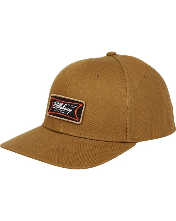 0 Walled Snapback Hat Brown MAHWTBWS Billabong