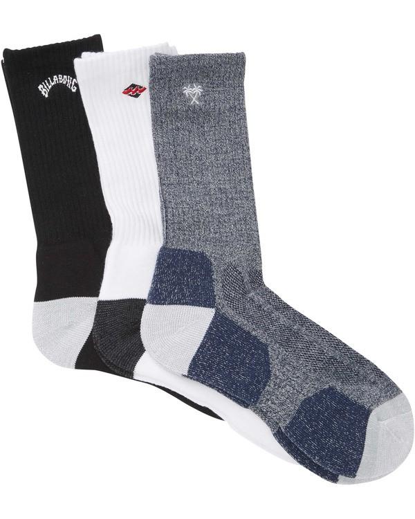 0 Mixed Bag Crew Socks  MASOTBMB Billabong