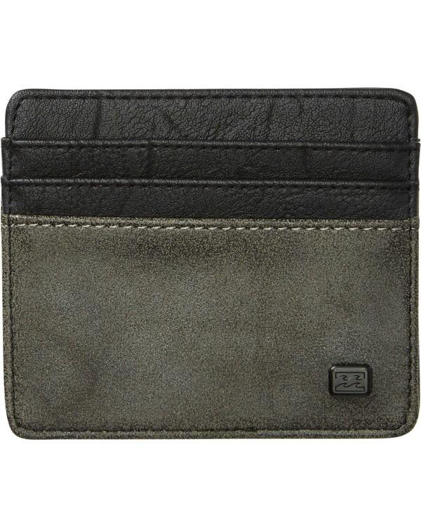 0 Dimension Card Holder Wallet Grey MAWTNBDC Billabong