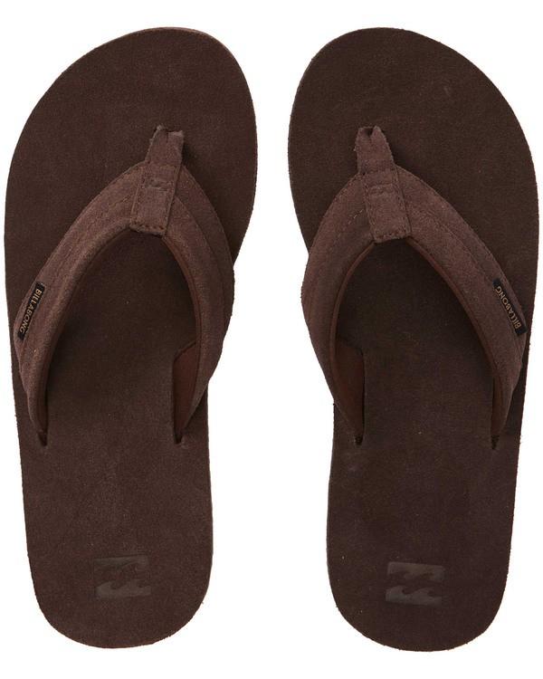 0 All Day Leather Sandals Brown MFOTTBAL Billabong