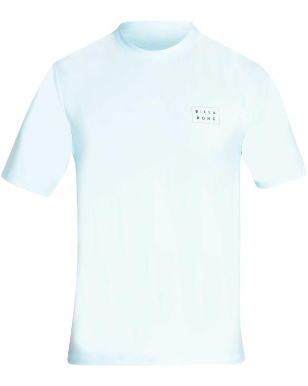 0 Die Cut Loose Fit Short Sleeve Rashguard Blue MR01TBDC Billabong