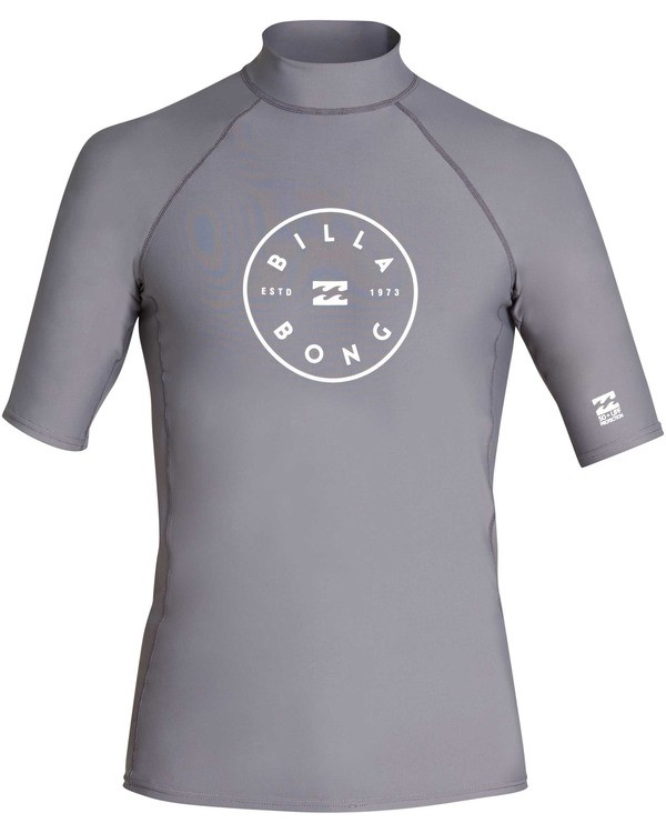 0 Rotor Performance Fit Short Sleeve Rashguard Grey MR01TBRO Billabong